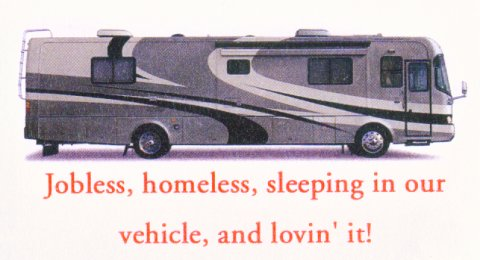 Rv lifestyle as you can see from their business card david and gail are just a couple of bums while the rest of us city bound slabbers eat our hearts out with envy colourmoves