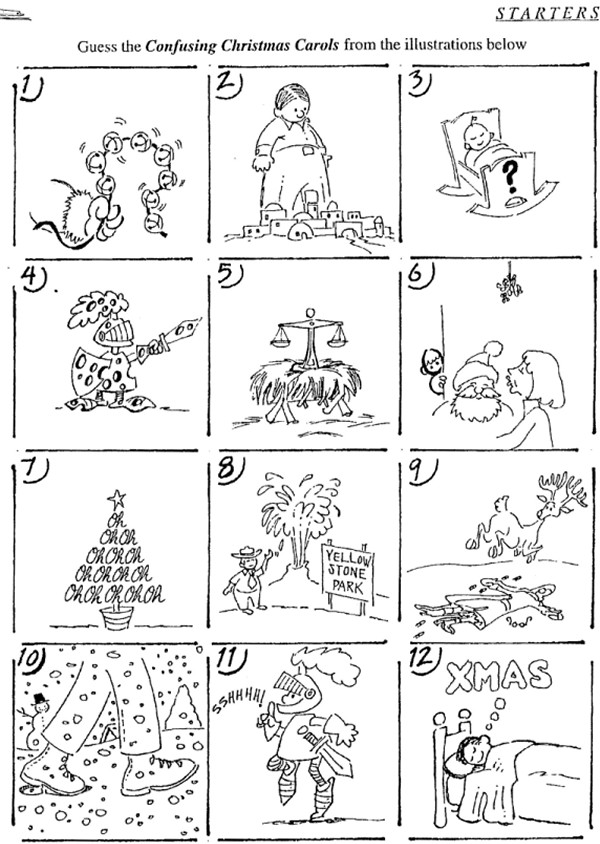 graphic regarding Guess the Christmas Song Printable referred to as Puzzle Anecdotes