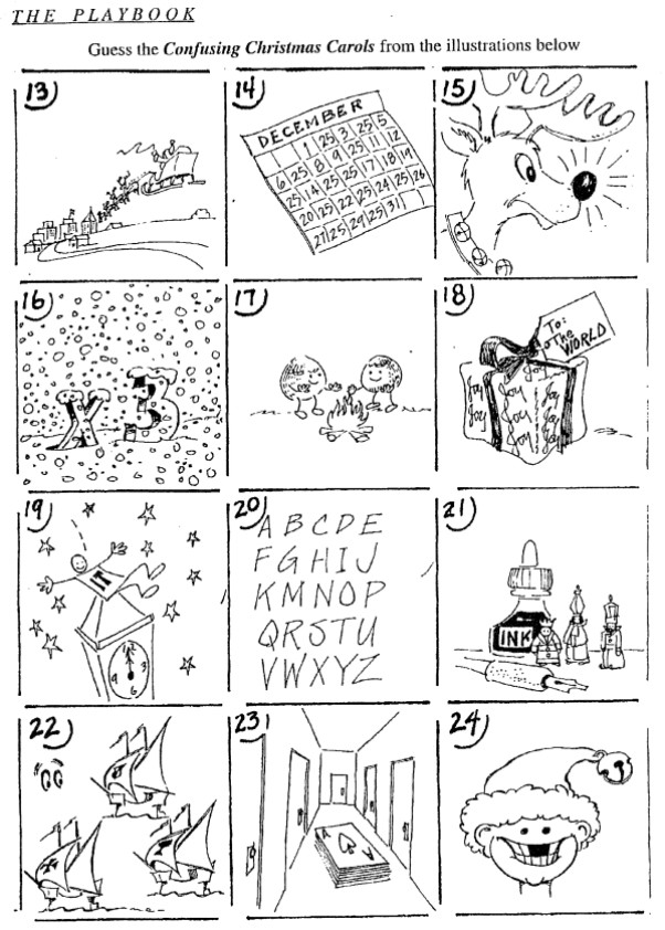 graphic regarding Guess the Christmas Song Printable known as Puzzle Anecdotes