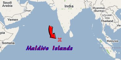 Fantasy Island - Where is the maldives on the world map