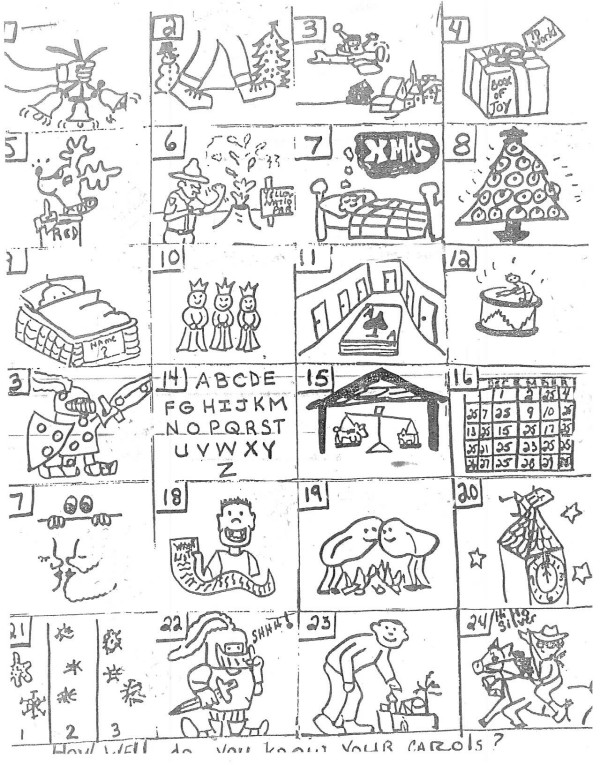 photograph relating to Guess the Christmas Song Printable referred to as Puzzle Anecdotes