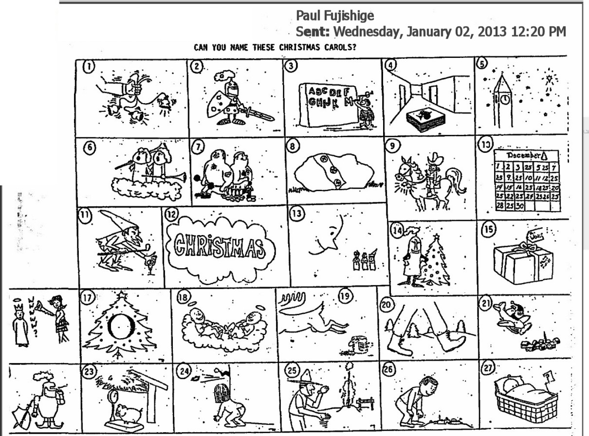 picture about Guess the Christmas Song Printable named The Initial Puzzle