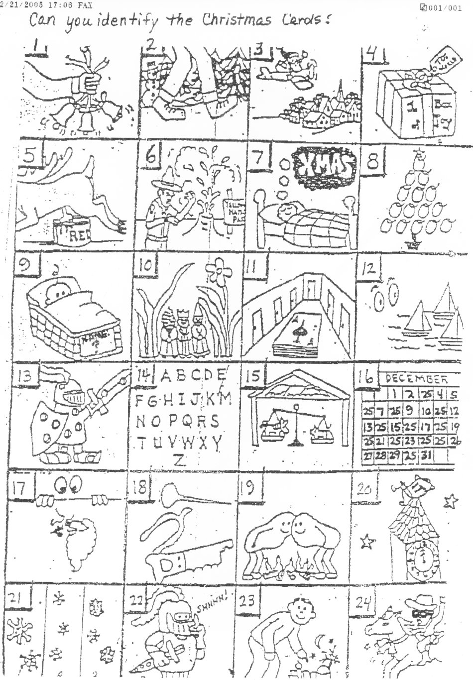 photograph relating to Guess the Christmas Song Printable referred to as The Authentic Puzzle