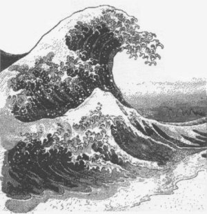how to draw a tsunami wave