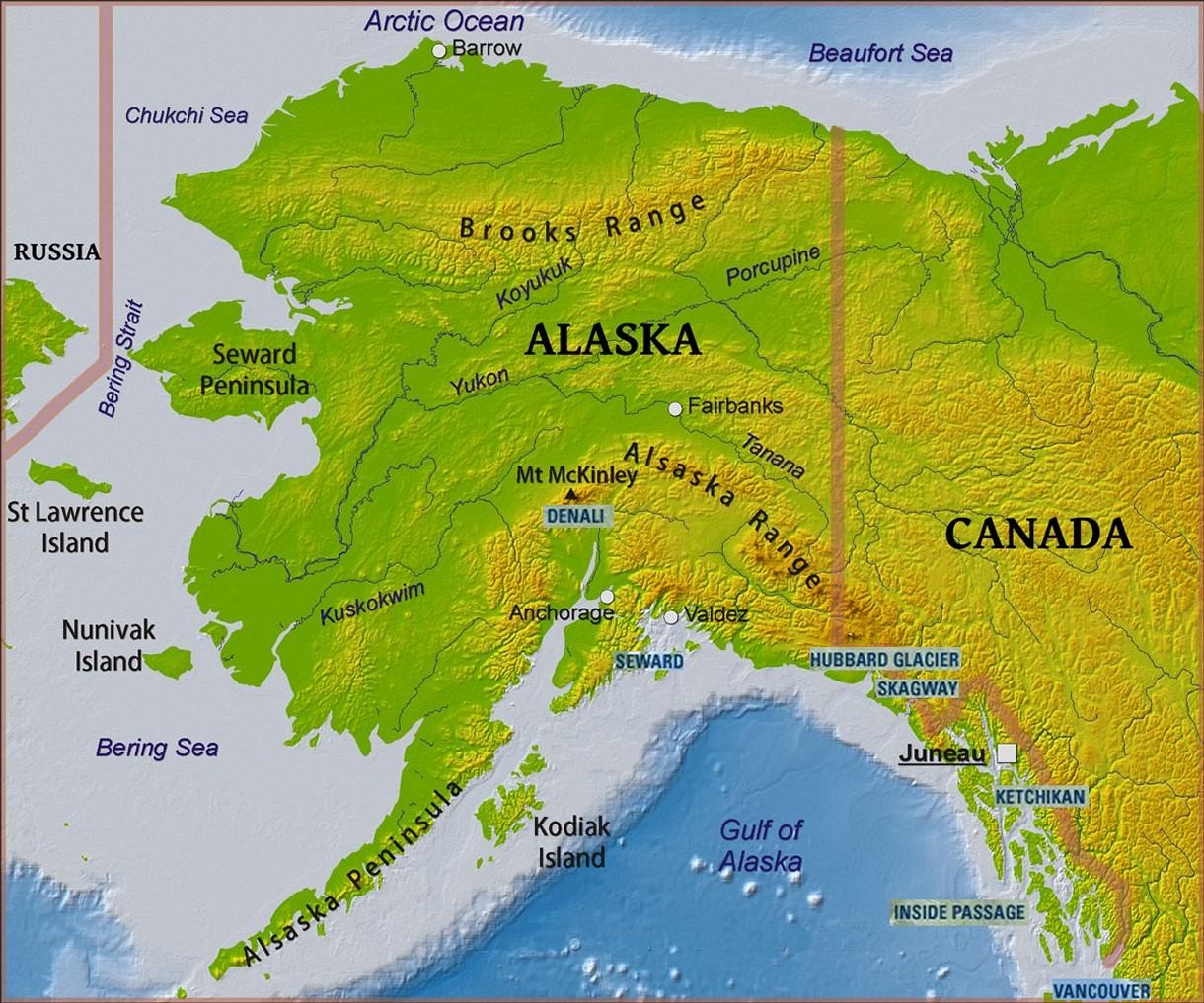 Huna Alaska Map.Original Trip Writeup