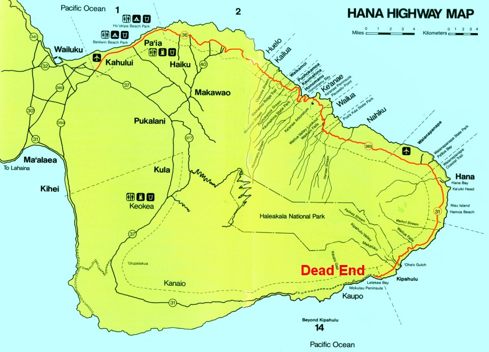 4 Maui – Maui Tourist Attractions Map