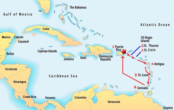Basic Information - Map of puerto rico caribbean islands