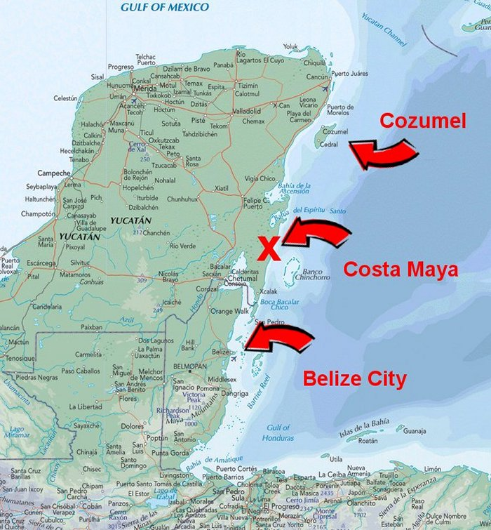 Belize and Cozumel