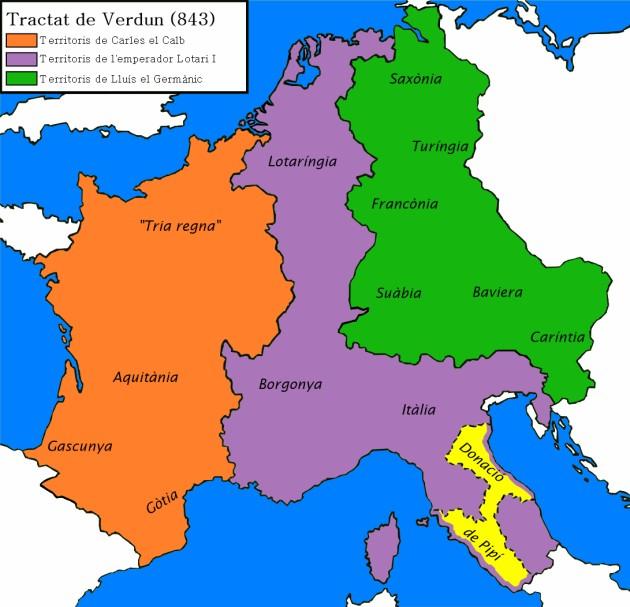 Charlemagne - Germany map lands