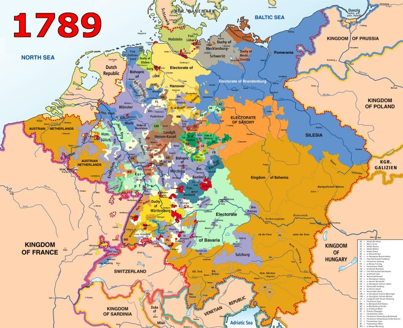 Holy Roman Empire - Germany map by year