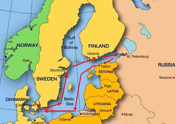 Russia - Sweden russia map