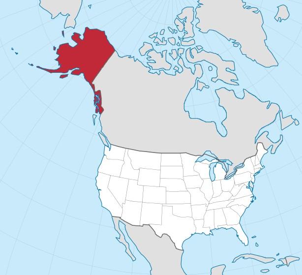 Sewards Folly - Us map after sewards folly