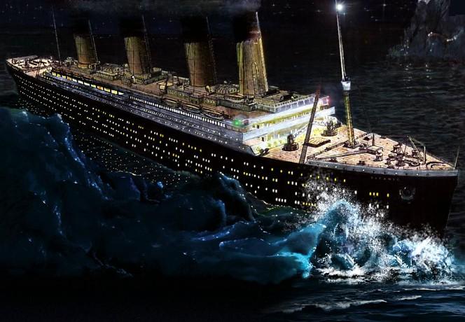 نتيجة بحث الصور عن titanic crash