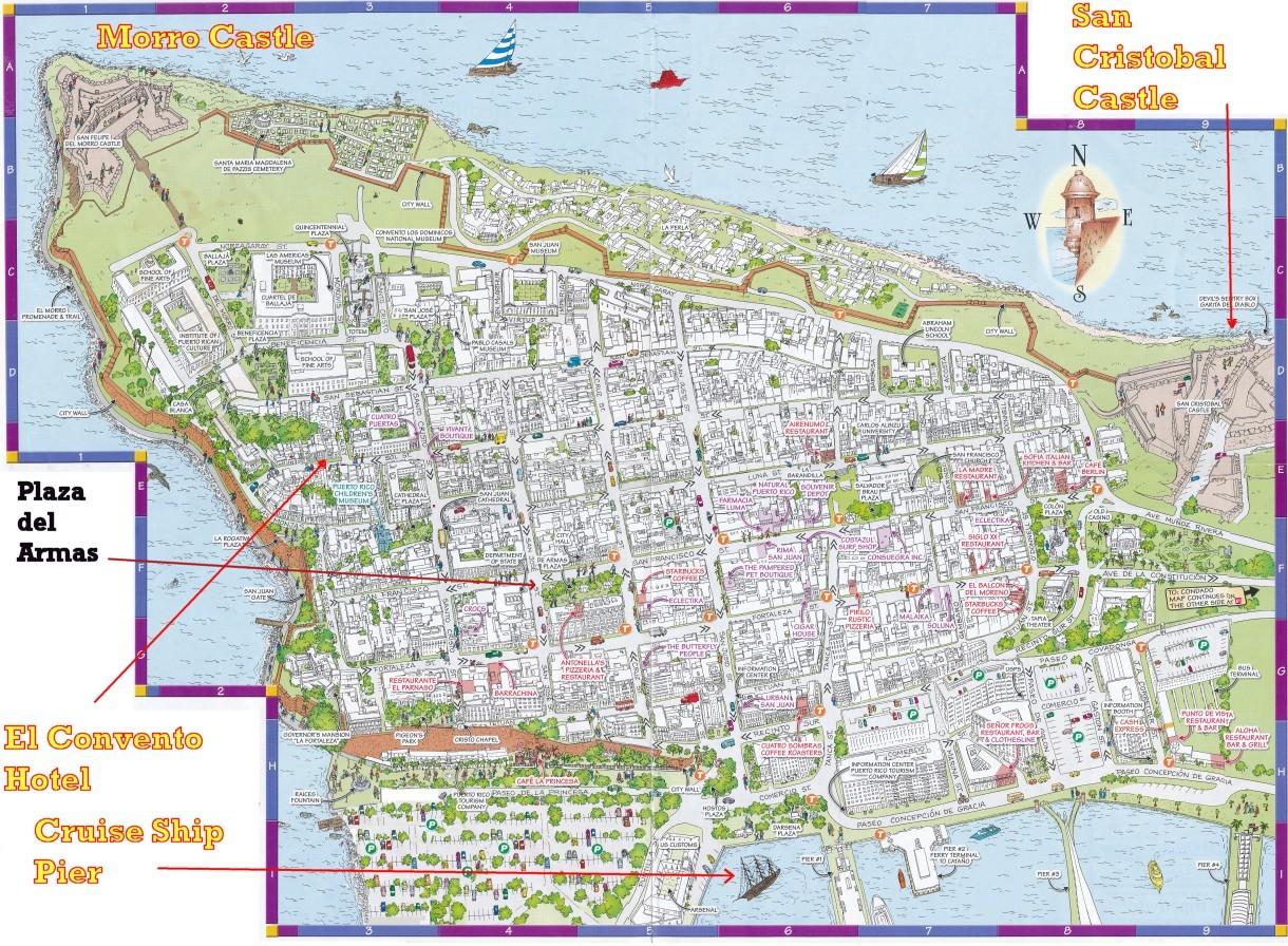 Maras Triumph – Tourist Map Of San Juan Puerto Rico